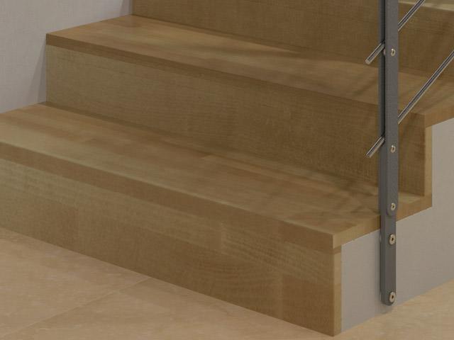 Rivestimento in legno rintal rivestimento in faggio - Rivestimento in legno per scale ...