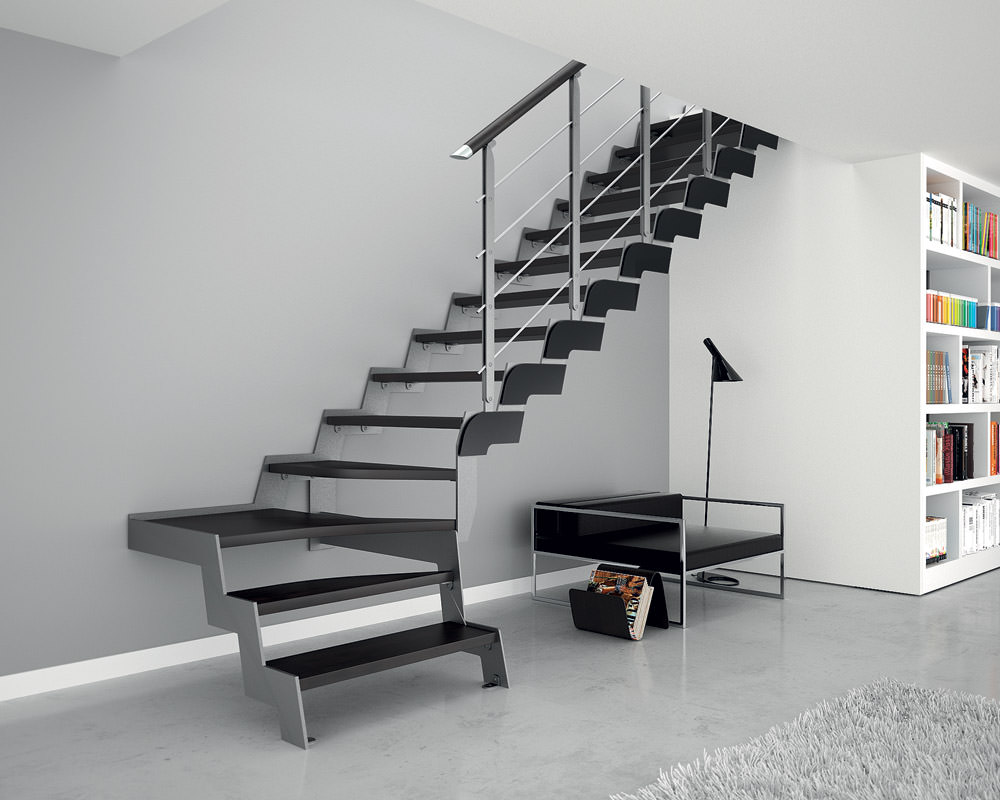 Scala in ferro su misura rintal loft - Scale interni design ...