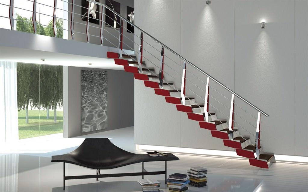 Scala in ferro su misura rintal loft - Scale interno casa ...