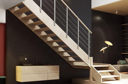 Scale a giorno scale moderne rintal for Rivestire una scala in legno