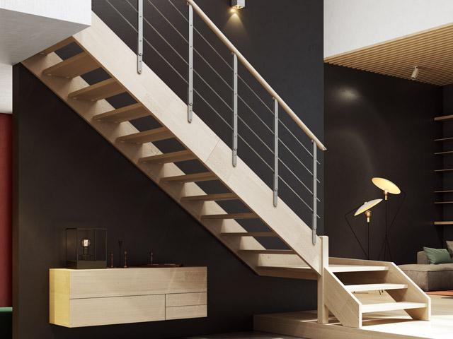Scala in legno su misura, scala legno, scale in legno prezzi | Brick ...