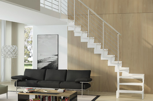 Scala per piccoli spazi dimensioni minime e ridotte - Scale in legno per interni ...