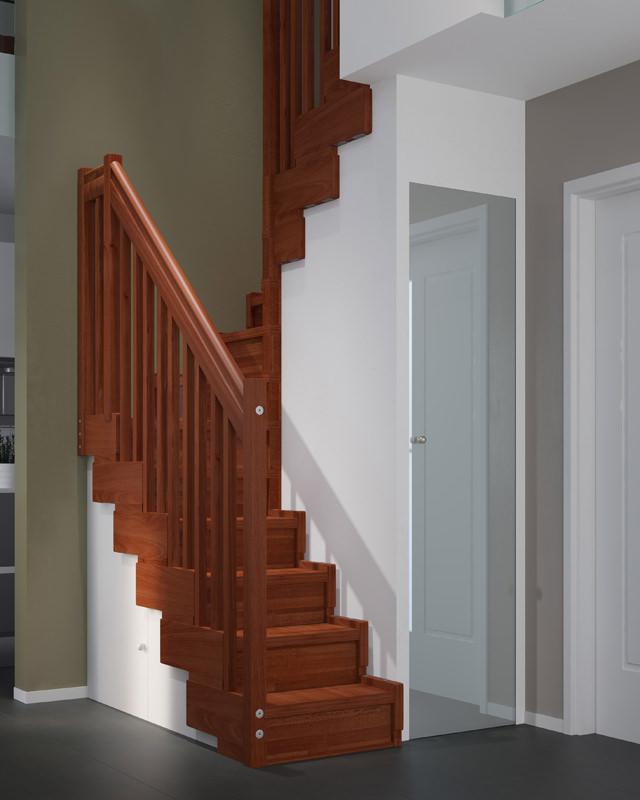 Scala per piccoli spazi dimensioni minime e ridotte - Scale interne in poco spazio ...
