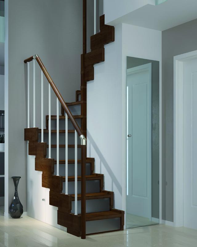 Scala per piccoli spazi dimensioni minime e ridotte - Scale a chiocciola salvaspazio ...