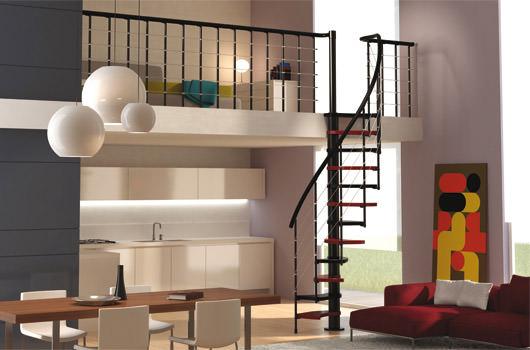 Scala per piccoli spazi dimensioni minime e ridotte for Escaleras modernas para espacios pequenos