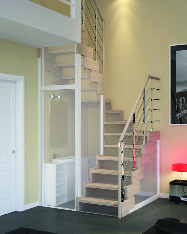 Scala per piccoli spazi dimensioni minime e ridotte - Creare un bagno in poco spazio ...