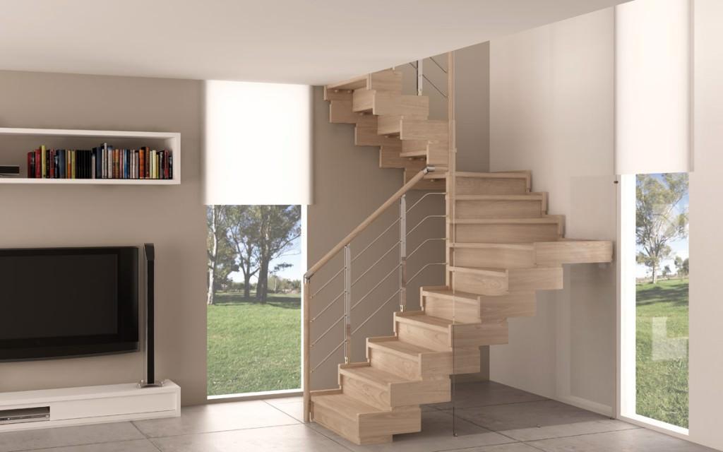 Scala in legno per interni rintal trasforma design - Configuratore scale interne ...
