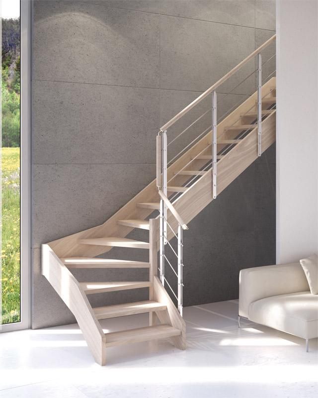 Scala in legno su misura scala legno scale in legno - Ringhiere da interno moderne ...