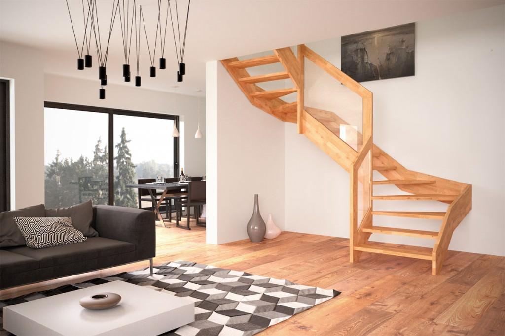 Scala in legno e vetro rintal visio - Scale in cemento per interni ...