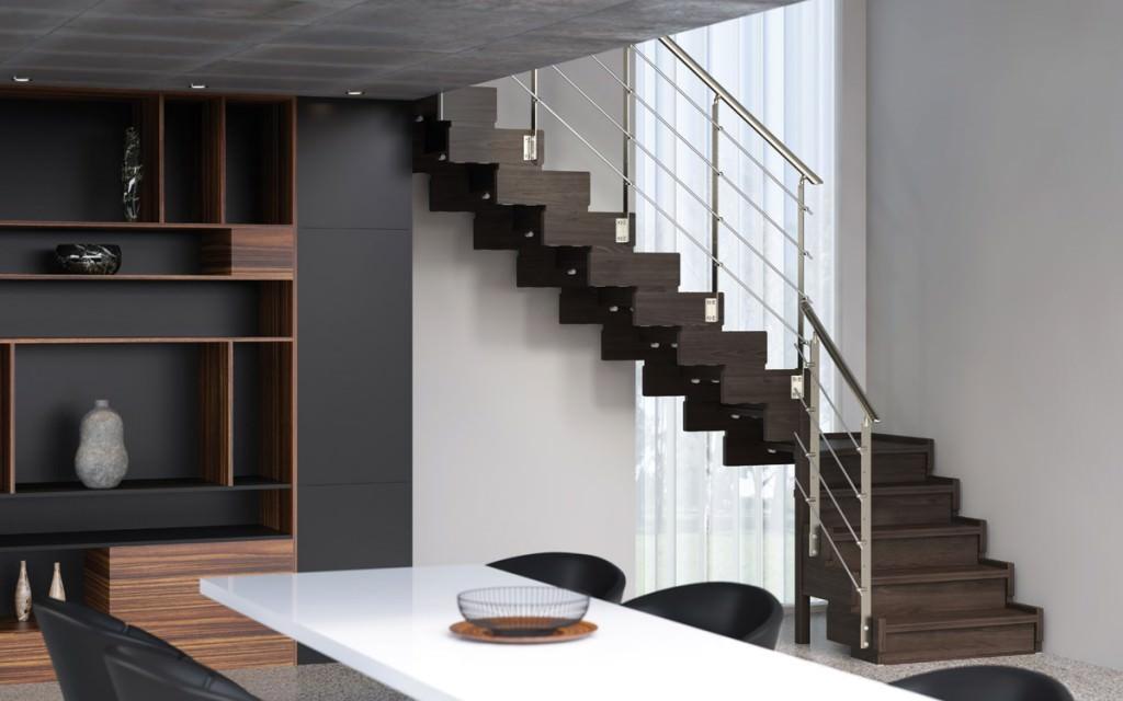 Scala in legno per interni rintal trasforma design - Soluzioni per scale interne ...