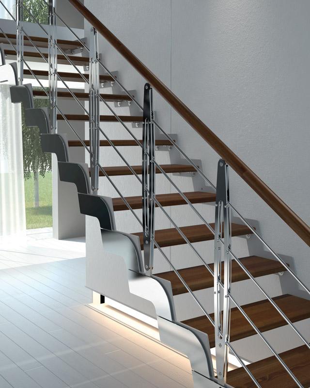 Scala in ferro su misura rintal loft - Scale interne design ...