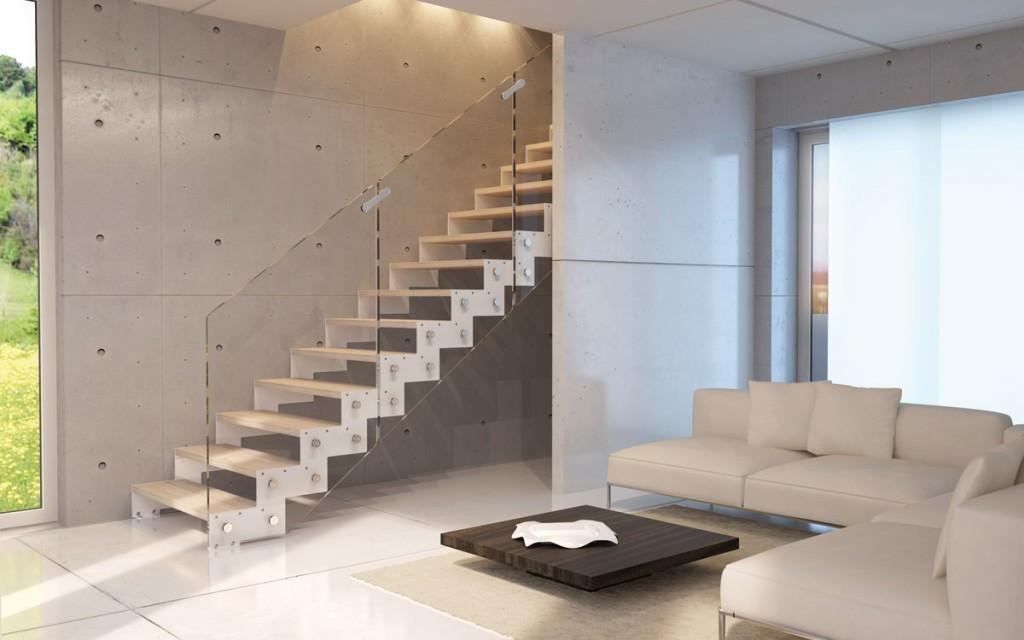Scala in acciaio per interni rintal daisy for Ristrutturare casa idee