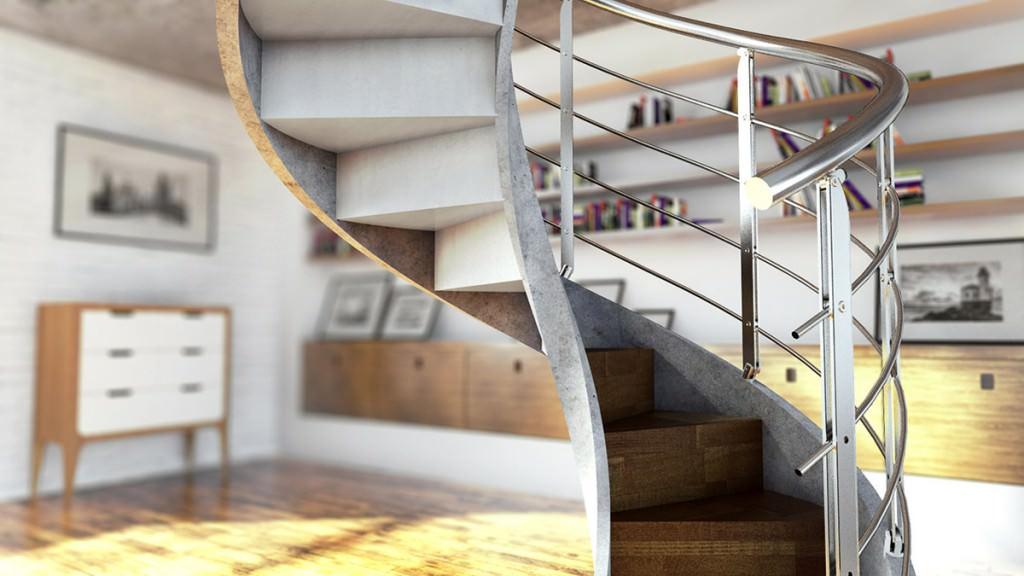 Scala elicoidale in cemento rintal concrete for Design architettonico gratuito