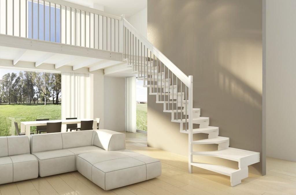 Soppalco in legno e in ferro per abitazioni scale rintal for Abitazioni interni