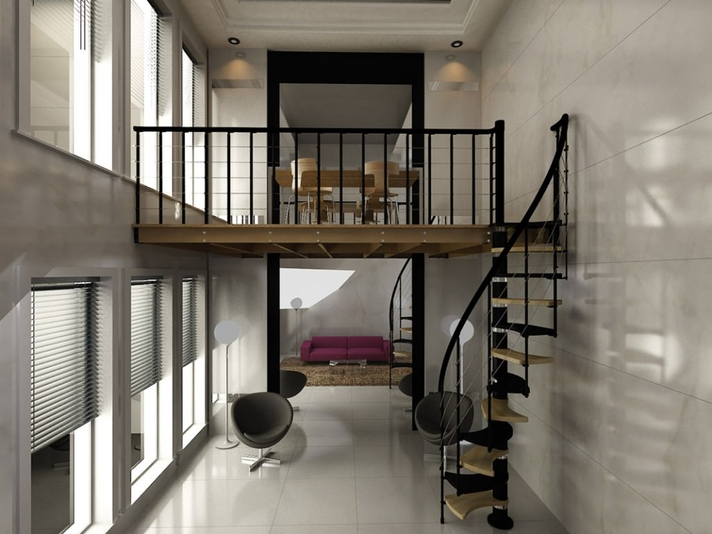 Soppalco in legno e in ferro per abitazioni scale rintal for Monolocale dwg