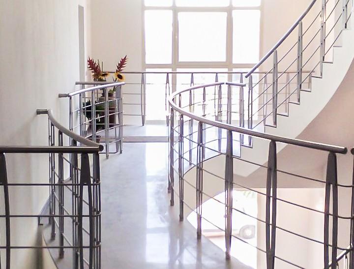 Ringhiera per scale interne installata ad Alessandria