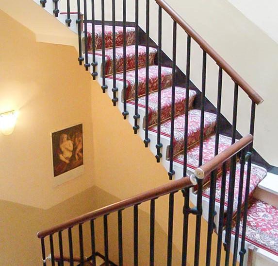 Ringhiera per scale interne installata ad Arezzo
