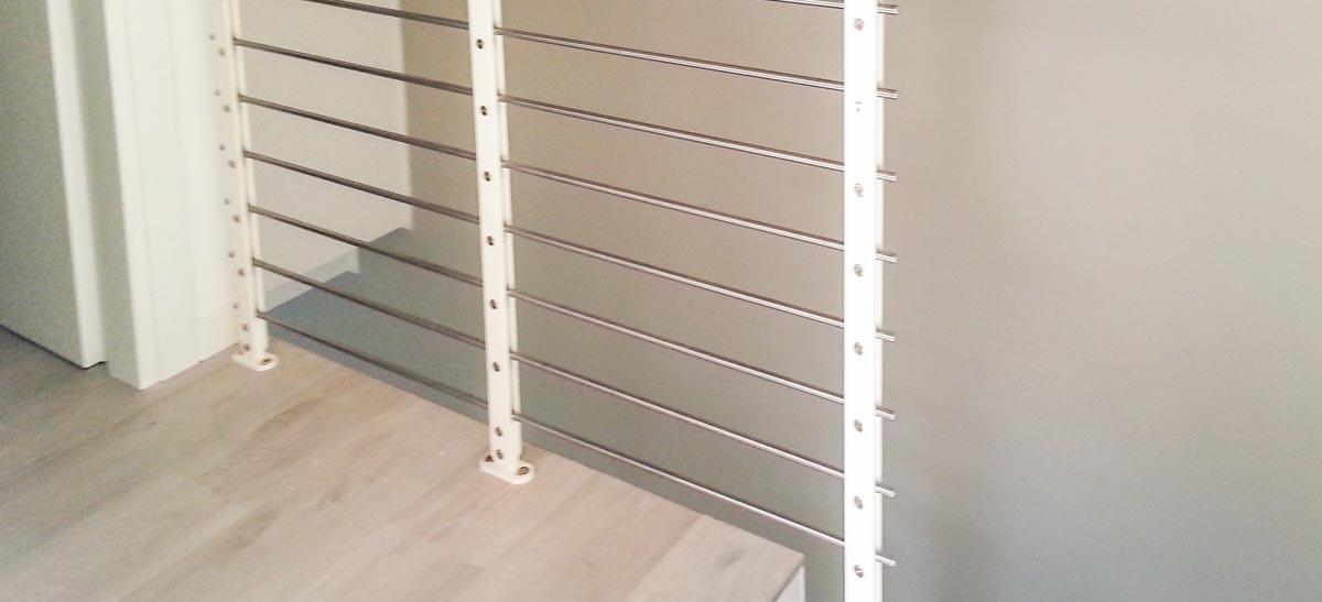 Ringhiera per scale interne installata ad Asti