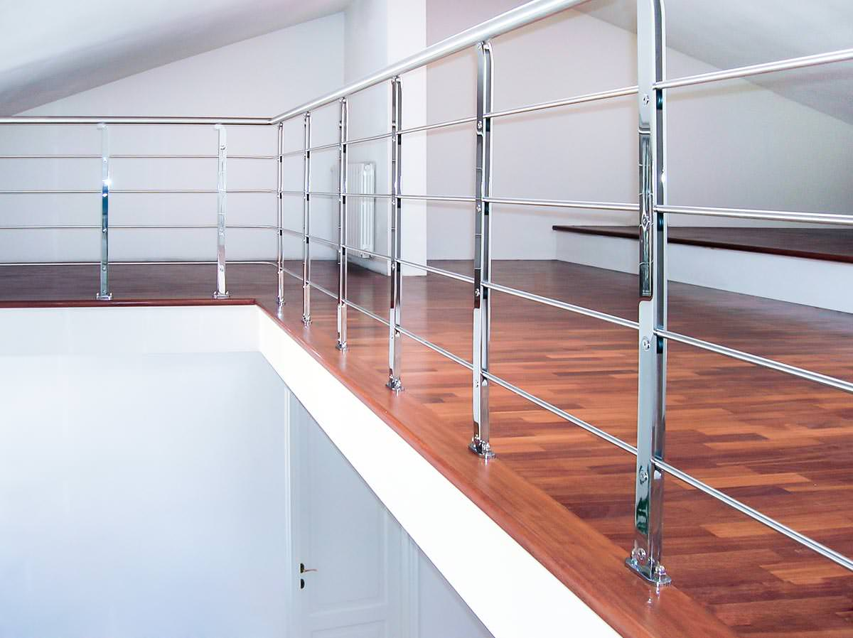 Ringhiera per scale interne installata a barletta andria trani rintal - Ringhiera scale interne ...