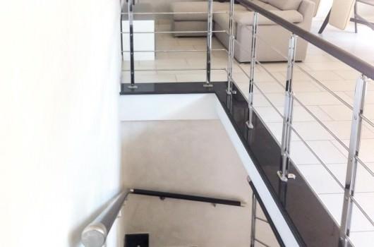 Ringhiera per scale interne installata a Benevento