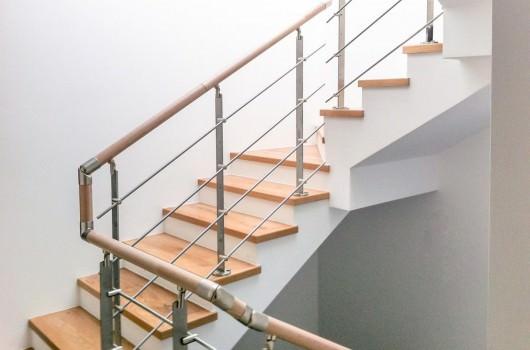 Ringhiera per scale interne installata a Bolzano