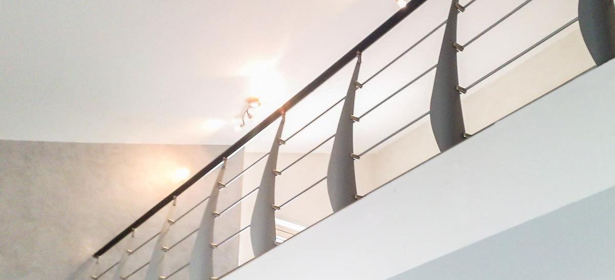 Ringhiera per scale interne installata a Brindisi