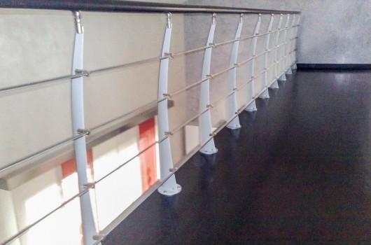 Ringhiera per scale interne installata a Cagliari