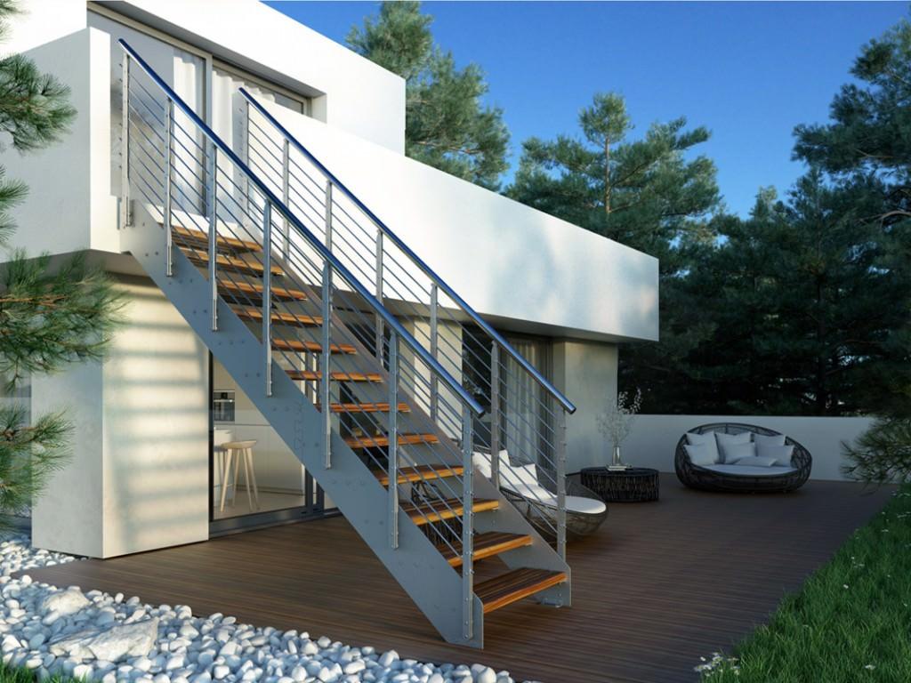Scala esterna in ferro rintal externa for Piani di casa in metallo