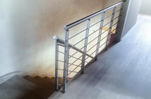 Ringhiera per scale interne installata a Campobasso
