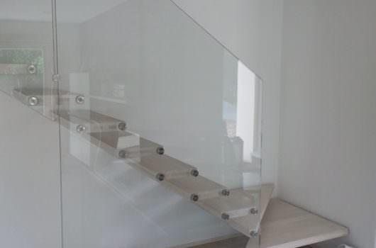 Scala a sbalzo installata a Bergamo