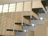 Scala con illuminazione installata a Salerno