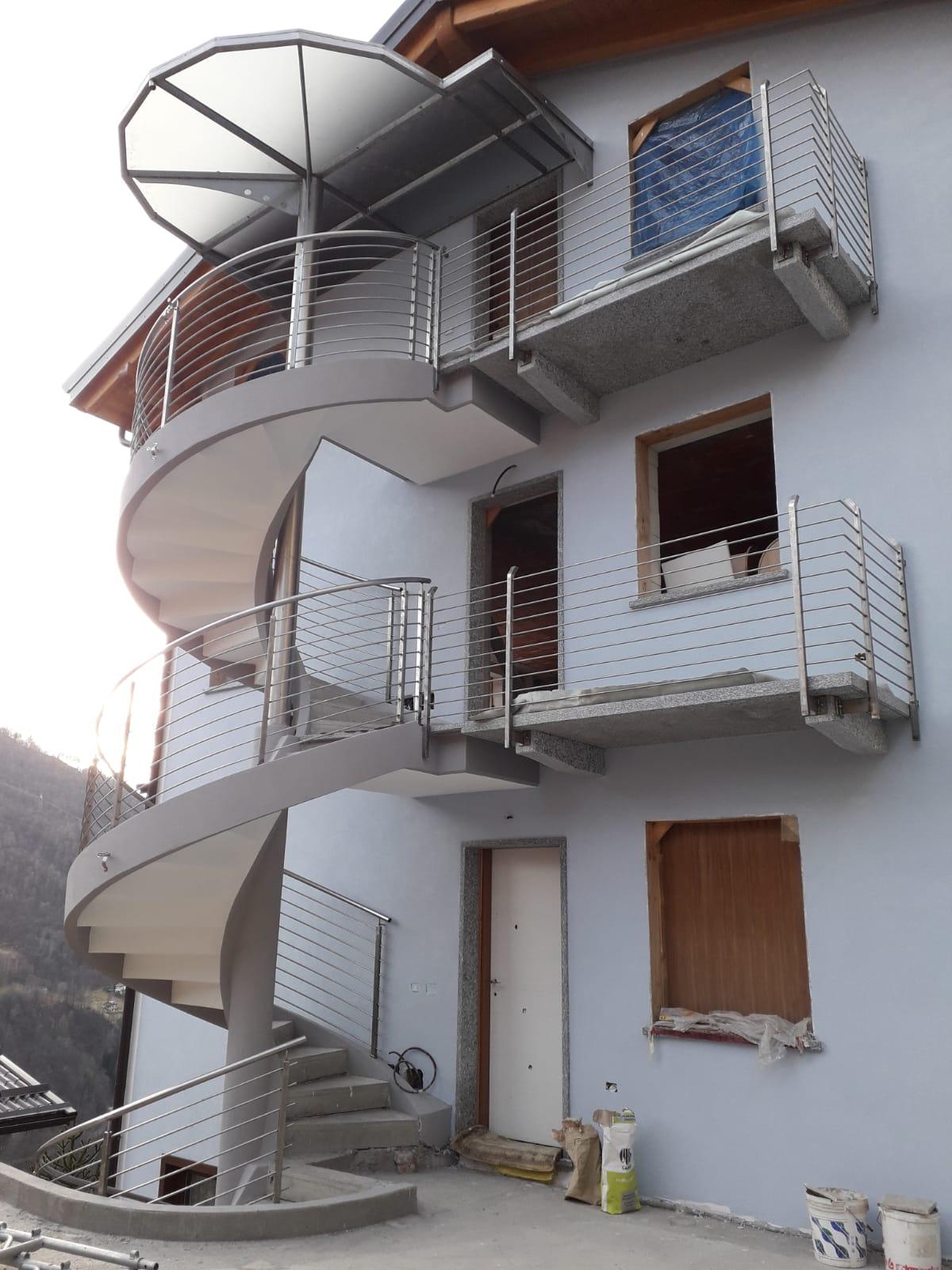 Scale Rintal - realizzazione a Lecco (vicino a Milano)